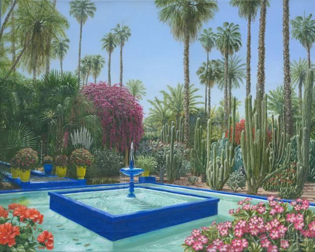 Le jardin majorelle marrakech morocco fine art for Jardin majorelle