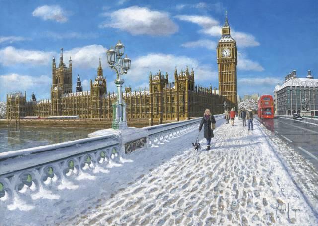 Winter Sun Houses Of Parliament London Fine Art Original